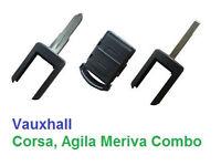 Vauxhall Corsa, Agila, Meriva, Combo - Remote Fob Key - Cut and Programmed