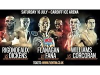 Ringside Ticket for Rigondeax, Flanagan & Williams in Cardiff on July 16th VIP with FREE hospitality