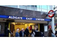 Office Space Available Flexible or Permanent Aldgate East..