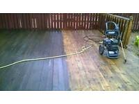 Driveways decking monoblock pressure washed