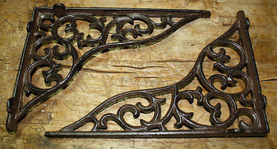 10 Cast Iron Antique Style HEAVY DUTY VINE Brackets Garden Braces Shelf Bracket