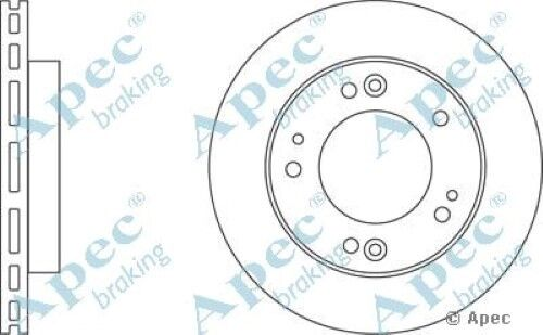 1x OE Quality Replacement Front Axle Apec Vented Brake Disc 5 Stud 284mm Single