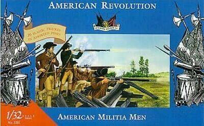 American Revolution Militia Men Accurate Imex 1/32 54mm Plastic Soldiers 3201