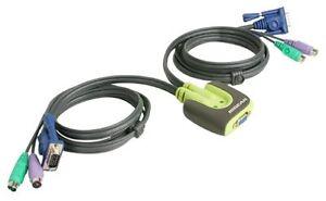 ioGEAR 2-Port MiniView Micro PS/2 KVM Switch - Mint condition