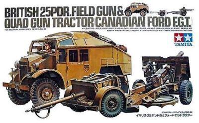 (1/35 Tamiya British 25PDR. FIELD GUN & QUAD GUN TRACTOR Canadian FORD FGT #35044)