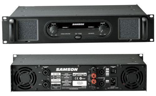 samson power amp amplifiers ebay