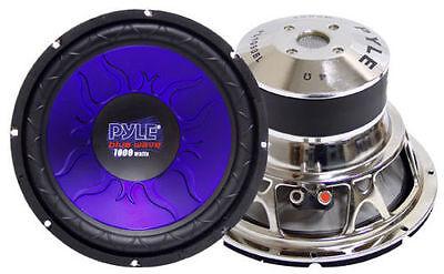 1 Pyle PL1290BL 12'' 1200 Watt DVC Subwoofer Sub Car Audio 12' Car Sub Subwoofer