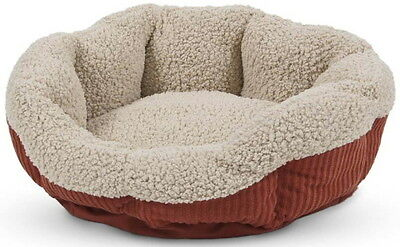 Aspen Pet Self Warming Cat Bed Warm Spice & Cream 19""
