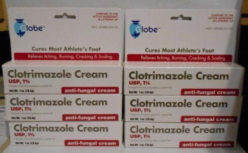 CLOTRIMAZOLE 1% Antifungal Cream - 0.5 Oz  8 PACK  BEST DEAL