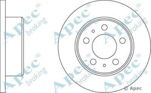 1x OE Quality Replacement Front Axle Apec Solid Brake Disc 5 Stud 263mm - Single