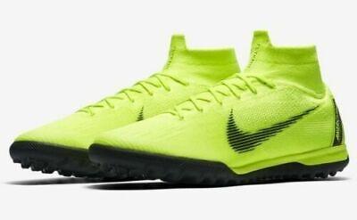 ba861172ac5 Mens Nike Superfly 6 Elite TF AH7374-701 Volt Black NEW Size 8