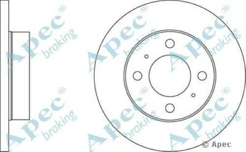 1x OE Quality Replacement Front Axle Apec Solid Brake Disc 4 Stud 234mm - Single