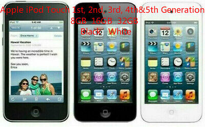 Apple iPod Touch 1st, 2nd, 3rd, 4th&5th Generation 8GB, 16GB, 32GB Black White