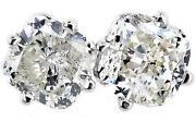 Cushion Cut Diamond Earrings