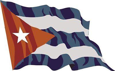Autoaufkleber Aufkleber Fahne Flagge Cuba - Kuba 15 cm wehend Auto LKW Laptop ()
