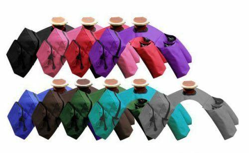 Showman BLACK BLUE BROWN RED Trail Horn Bag Saddle Bags Drink Holders 248392