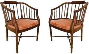 Pair Hollywood Regency Chairs