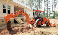 mini excavating and digging services offered.