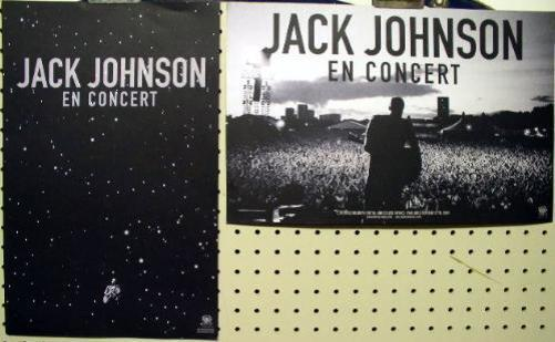 JACK JOHNSON 2009 en concert 2 sided promotional poster Flawless NEW old stock