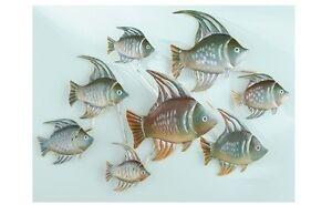 Coastal decor beach decor nautical decor seashell decor - Tropical School Of Fish Sea Wall Art Hanging Nautical