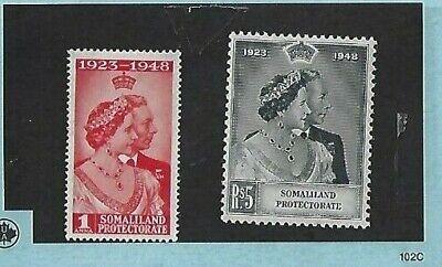 SOMALILAND PROTECTORATE: KING GEORGE VI, 1949 'ROYAL SILVER WEDDING Pr, SG119-120
