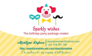 SPARKLY WISHES, the birthday party package creator! Bundall Gold Coast City Preview