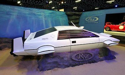 The James Bond submarine car used in the Spy Who Loved Me. Sean Dempsey/PA