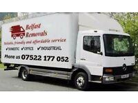 HOUSE & OFFICE REMOVALS SERVICE, MAN AND LORRY / VAN HIRE, WASTE REMOVAL, BELFAST & NI, CHEAP