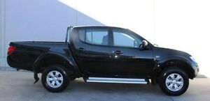 2013 Mitsubishi Triton MN MY14 GLX Double Cab Black 5 Speed Manual Utility Berwick Casey Area Preview