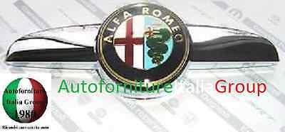 LOGO STEMMA FREGIO ANTERIORE MOSTRINA EMBLEMA BAFFO CROMATO ALFA ROMEO 147 04>