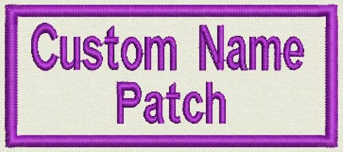 """4 Custom Embroidered, Name Tag, Biker Patch, badge 3.5"""" x 1.5"""" Iron On or Sew On"""