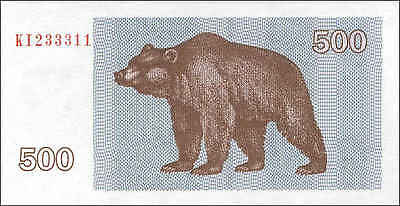 Litauen / Lithuania 500 Talonas 1992 Pick 44