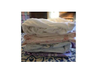 Vintage single duvet covers, pillow cases, fitted sheets