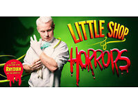 4 Tickets x Little Shop of Horrors, Theatre Royal Glasgow - Front Row Centre Half Standard Price