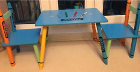 Children's table & 2 chairs