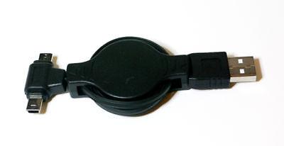 DMMR: dual mini USB / Micro USB to USB data sync retractable cable
