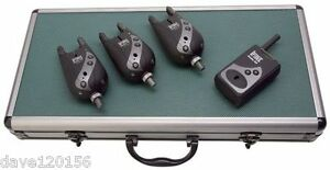 DAIWA SUNDRIDGE G2X 03HS RADIO OPTONIC BITE ALARMS SET OF 3 & RECEIVER