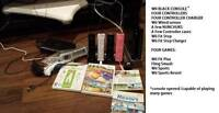 Wii Console Unlocked / Controllers / Charger / Wii Fit / Games
