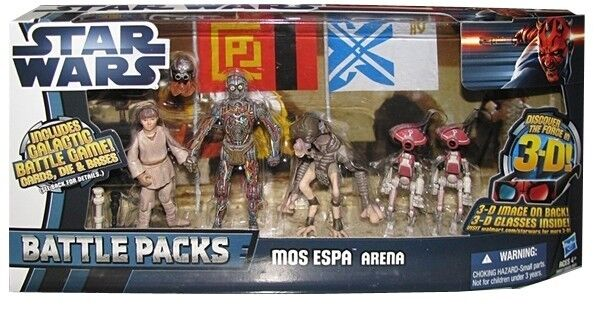 STAR WARS DISCOVER THE FORCE MOS ESPA ARENA FIGURE BATTLE 5 PACK C-3PO BNIB 3D