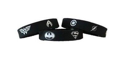 Cheap Silicone Wristbands (Justice League Batman Superman Wonder Woman Flash Silicone Wristband)