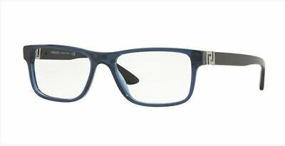 Authentic Versace Eyeglasses VE3211 5111 Blue Crystal Frames 55mm Rx-ABLE