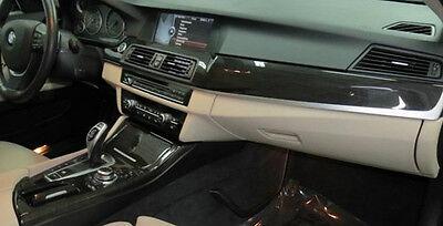 BMW OEM F10 F11 5 Series 2011+ Fine-Line Anthracite Wood Interior Trim Kit 4CE