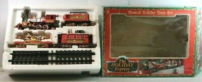 Christmas Holiday Express Train Set Animated Musical Lights plays Xmas Carols