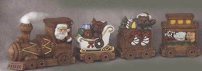 Ceramic  Bisque Ready to Paint Christmas Train