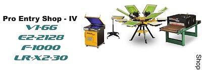 Vastex V-1000 Screen Printing Press 6 Station 6 Color Proshop 4 Supply