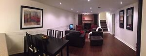 Furnished Luxurious All Inclusive 1 Bedroom Basement Apartment