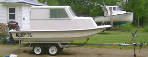 Modified Carolina Skiff with trailer for sale