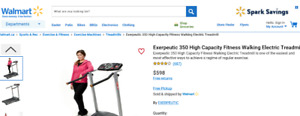 NEW EXERPEUTIC HIGH CAPACITY FITNESS WALKING ELECTRIC TREADMILL