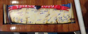 Montreal Canadiens Centennial print signed by past/present habs