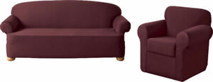Solid Color Jersey Sofa Slipcover-Linen, New